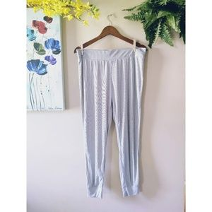 Victoria Secret Light Gray Striped Pajama Pant
